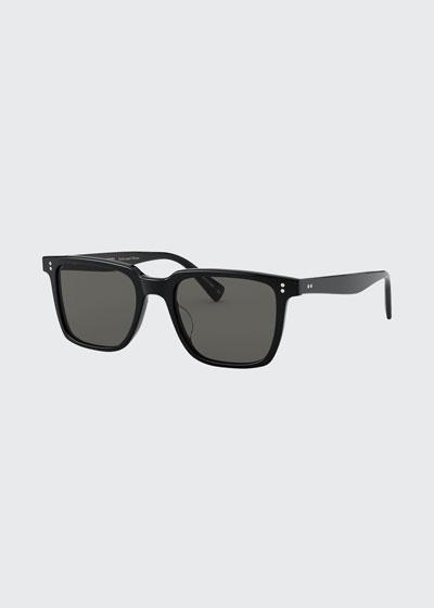 Square Polarized Acetate Sunglasses