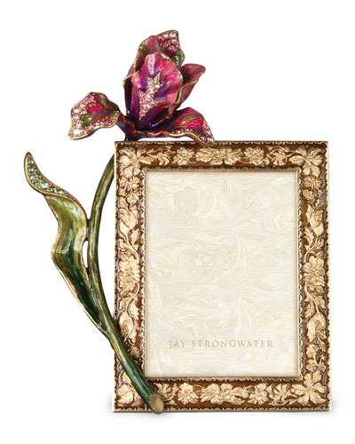 Brocade Floral 3 x 4 Picture Frame