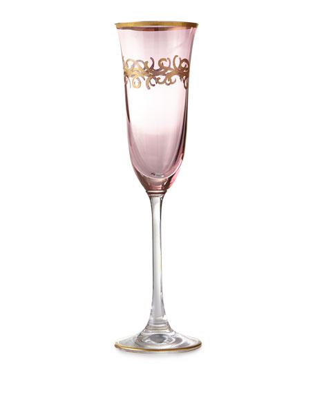 Blush Oro Bello Champagne Flutes, Set of 4