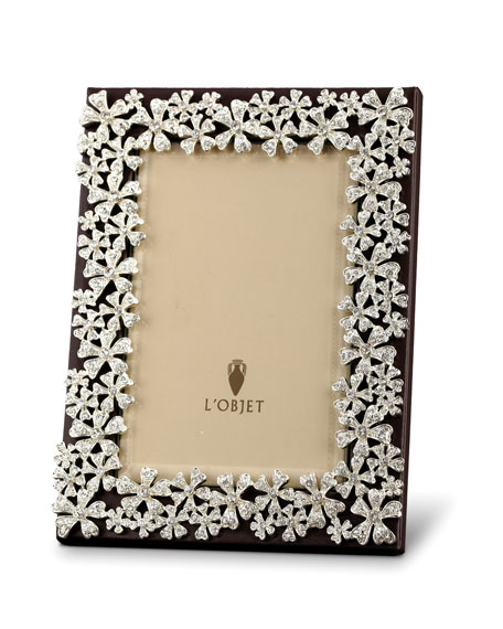 24k Gold-Plated Swarovski® Crystal Garland Picture Frame, 2 x 3