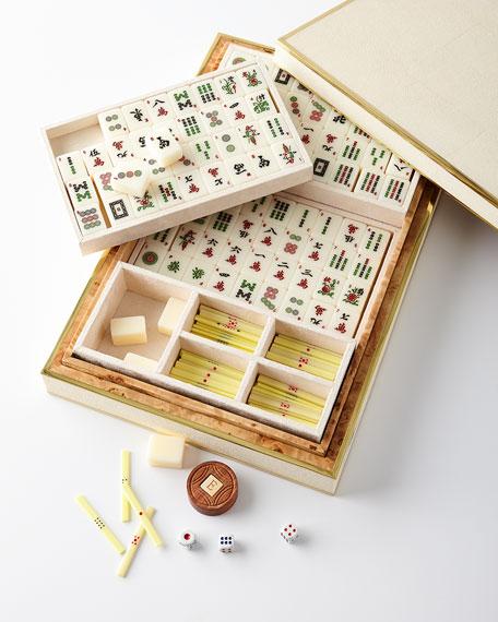 Faux-Shagreen Mahjong Set