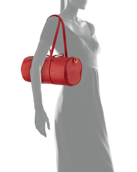 Pebbled Leather Mini Duffel Bag