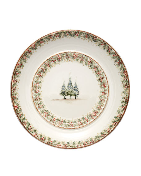 Image 1 of 1: Natale Large Round Signed Platter