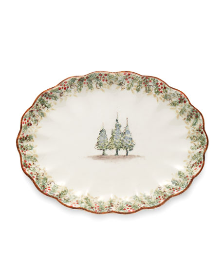 Image 1 of 1: Natale Scalloped Oval Platter
