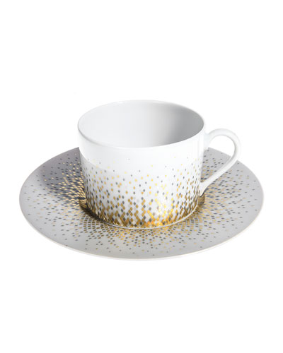 Souffle d'Or Teacup and Saucer
