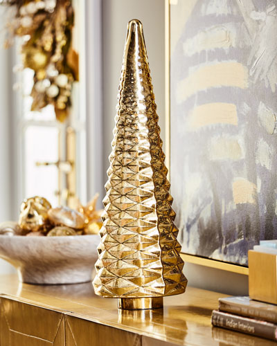 26 Faceted Gold Mercury Glass Tree