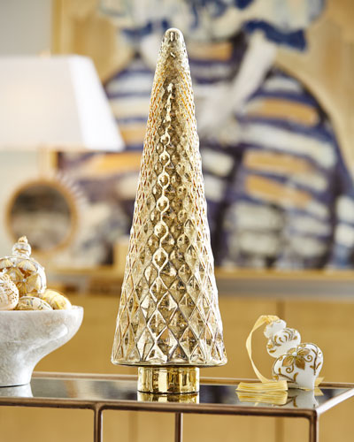 23 Gold Mercury Glass Tree