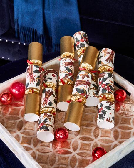 Cinnamon Swirl Holly Christmas Crackers, Set of 6