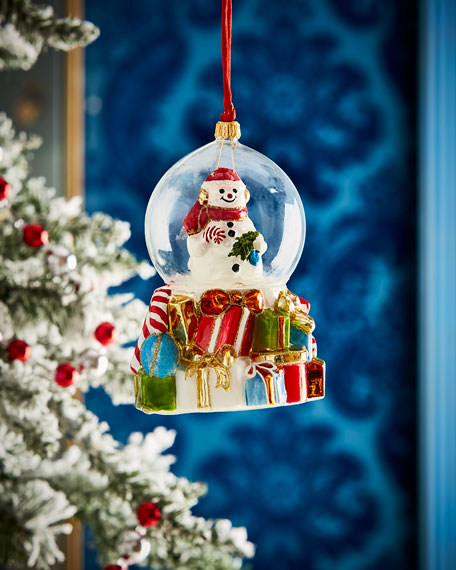 Snowman In Globe Christmas Ornament