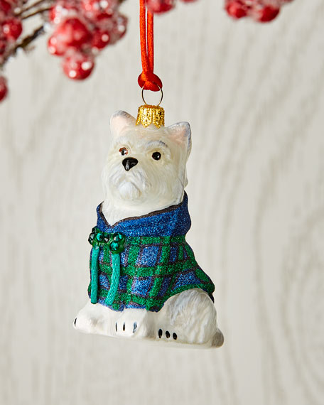 Image 1 of 1: Westie in Hoodie Ornament