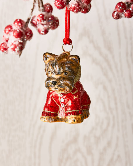Yorkshire Terrier in Puffy Coat Ornament
