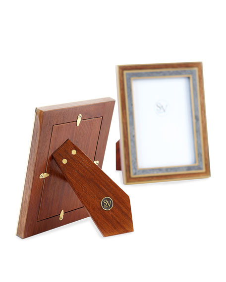"""Madagascar Double Picture Frame, 4"""" x 6"""""""