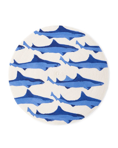 Sharks Round Placemat