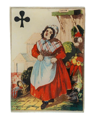 Queen of Clubs Rectangular Tiny Tray