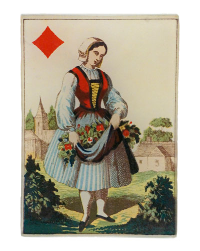 Queen of Diamonds Rectangular Tiny Tray