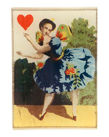 Queen of Hearts Rectangular Tiny Tray