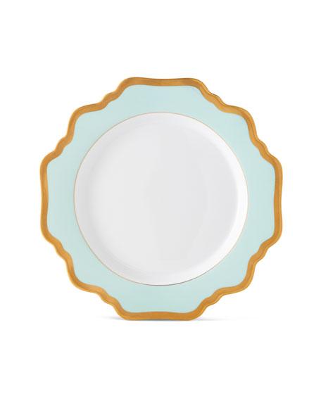 Aqua Rimmed Salad Plate
