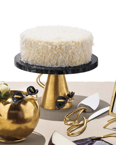 Calla Lily Midnight Cake Stand