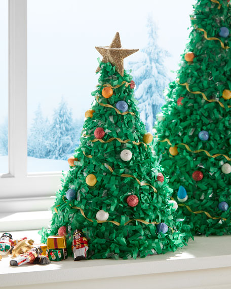 Tabletop Large Unfilled Christmas Tree Pinata