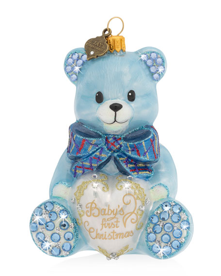 2019 Baby's First Christmas Ornament, Blue