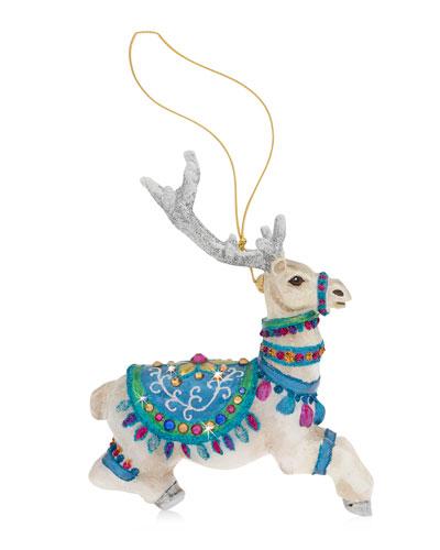 Vixen Glass Christmas Ornament