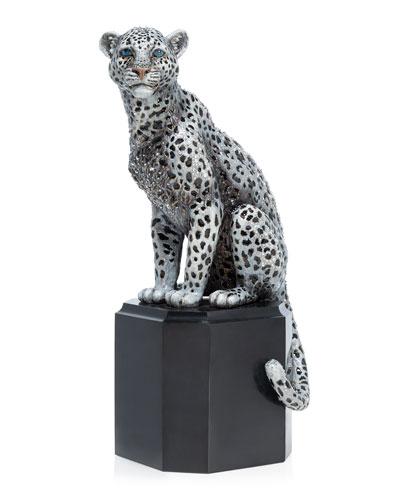 Sitting Snow Leopard Figurine