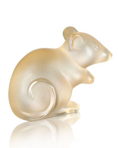 Gold Luster Mouse Figurine
