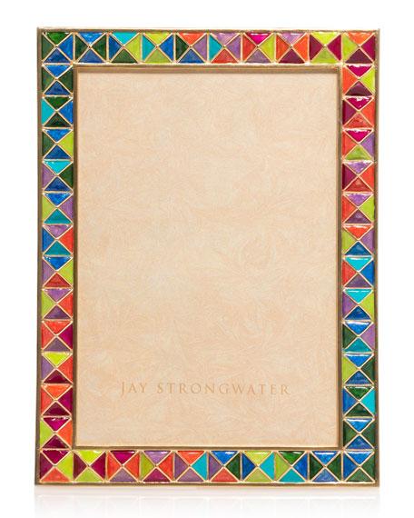 """Rainbow Pyramid Frame, 5"""" x 7"""""""