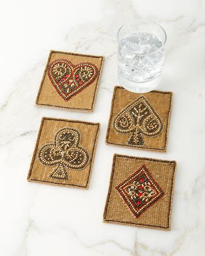 Poker Coasters  Set of 4