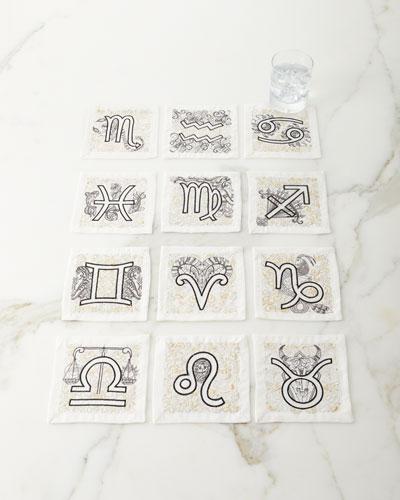 Astrology Cocktail Napkins  Set of 12