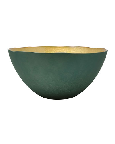 Two-Tone Glass Large Deep Bowl
