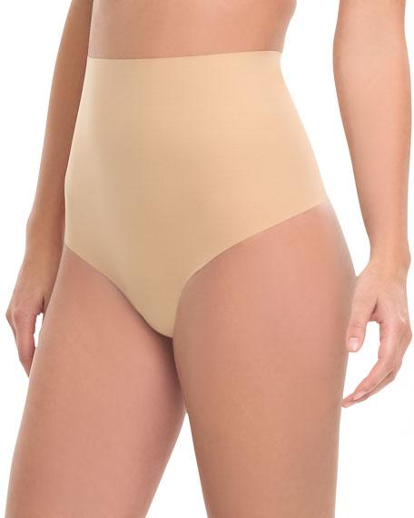 High-Waist Control Thong, True Nude