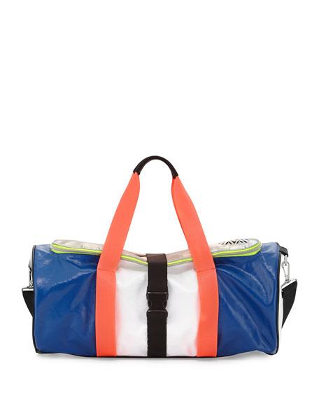 Warrior Colorblock Gym Bag, Azure