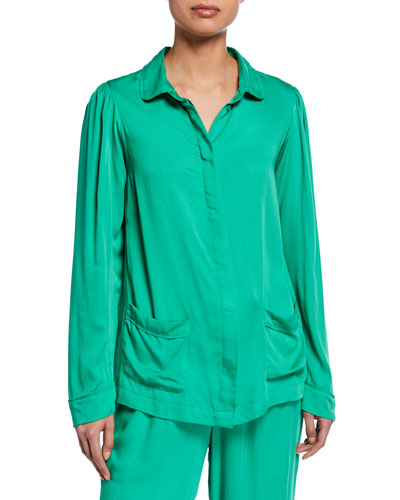 Rana Long-Sleeve Pajama Shirt