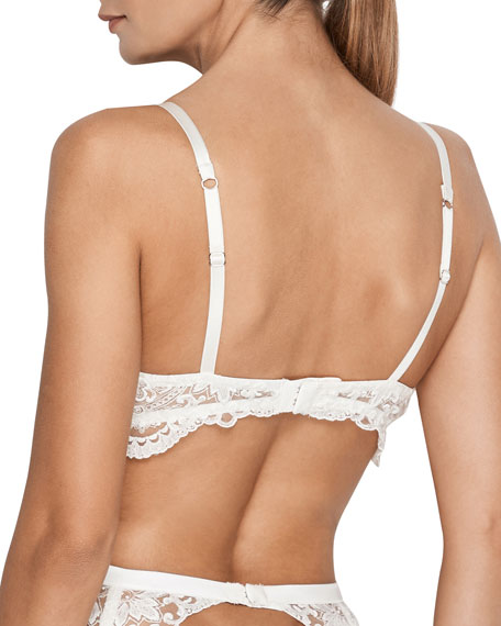 Bella Embroidered Padded Push-Up Bra