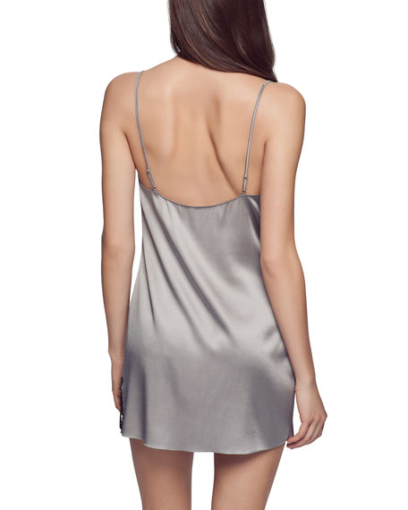 Lace-Inset Silk Chemise