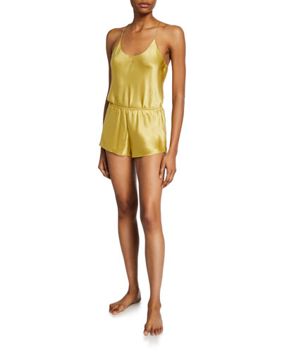 Bella Honey Silk Camisole Short Pajama Set