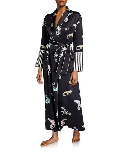 Capability Chameleon Long Silk Robe