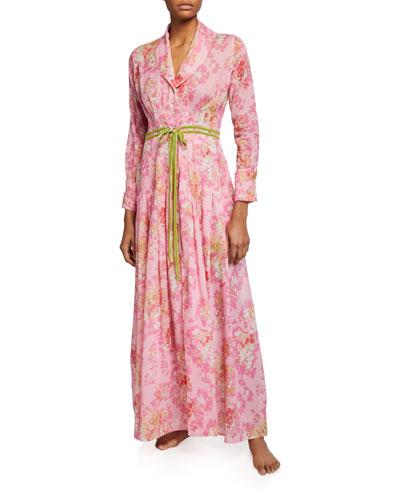 Saskia Floral-Print Robe