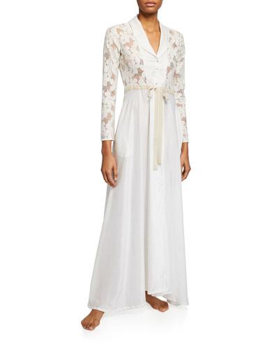 Misha Lace-Bodice Robe