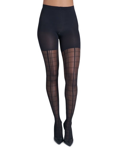 Tight End Geo Plaid Tights