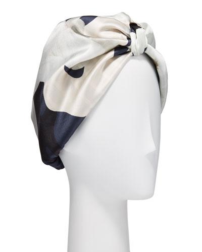 Patterned Silk Turban