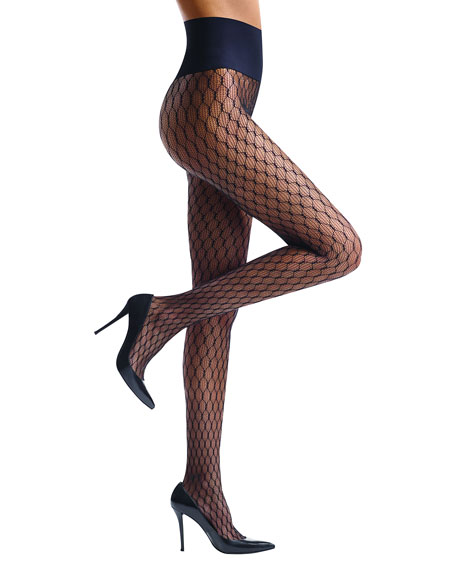 Image 1 of 1: Channel Net Tights