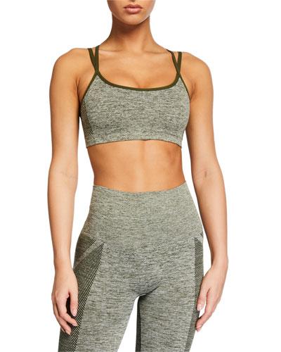 Seamless Textured Sports Bra