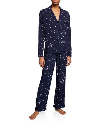 Clara Star-Print Classic Pajama Set