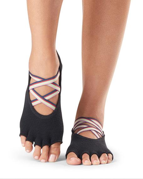 Elle Strappy Half-Toe Grip Socks