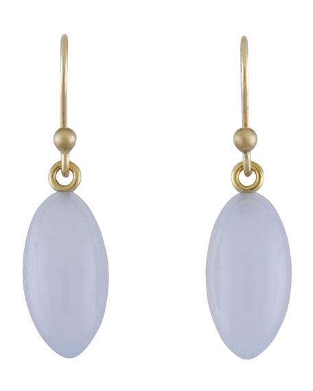 Blue Chalcedony Berry Earrings