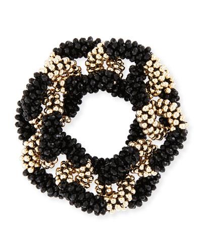 Elsa 14K Gold & Onyx Link Bracelet