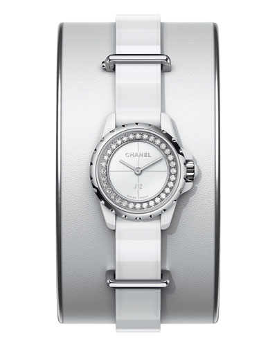 J12 XS White Small Cuff Watch