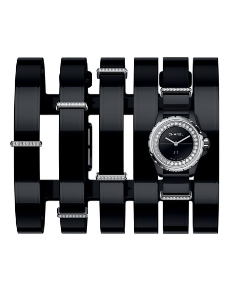 J12 XS Black Wide Cuff Watch
